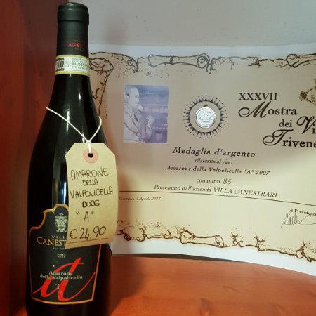 De heerlijke Amarone della Valpolicella A van Villa Canestrari