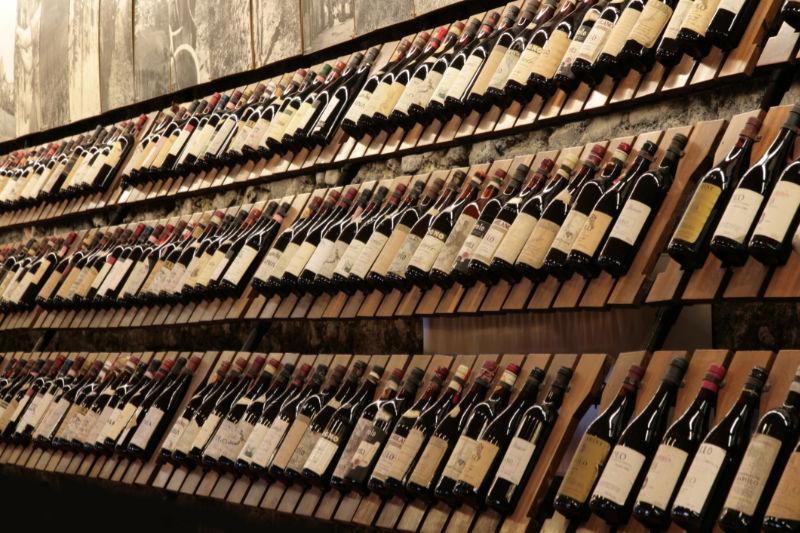 wijnwinkel met Italiaanse wijnen